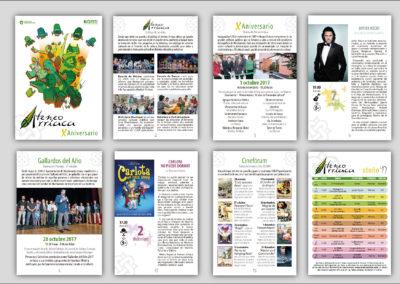 Diseño de la campaña de difusión de los espectáculos del X Aniversario del Ateneo Arriaca