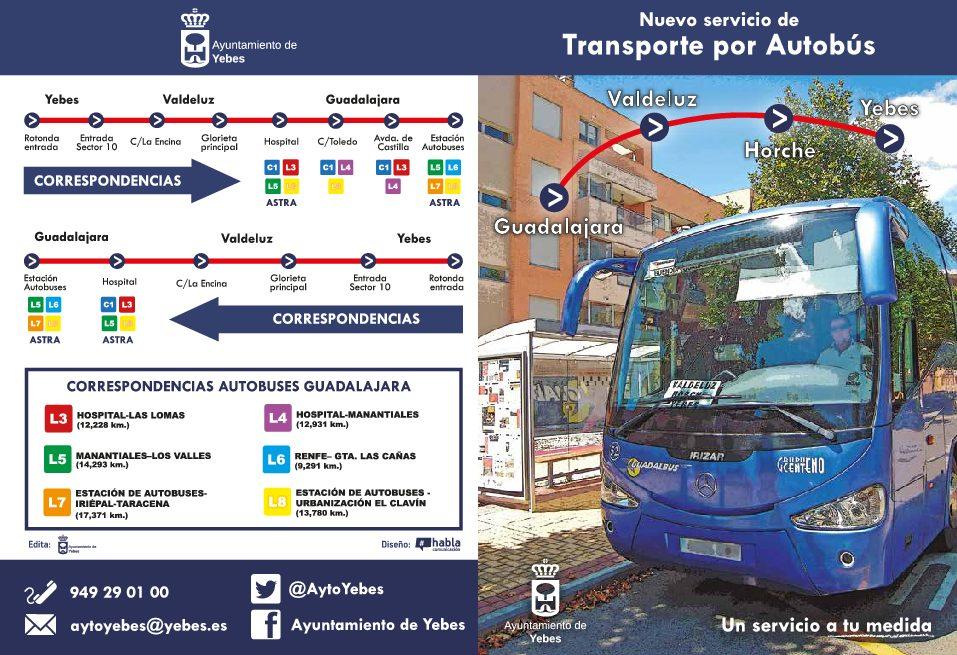 Diseño de la campaña de difusión del servicio de Transporte Público Interurbano del Ayuntamiento de Yebes-Valdeluz