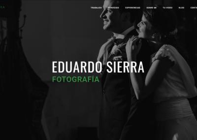 Diseño web y asesoría de redes sociales para Eduardo Sierra Fotografía