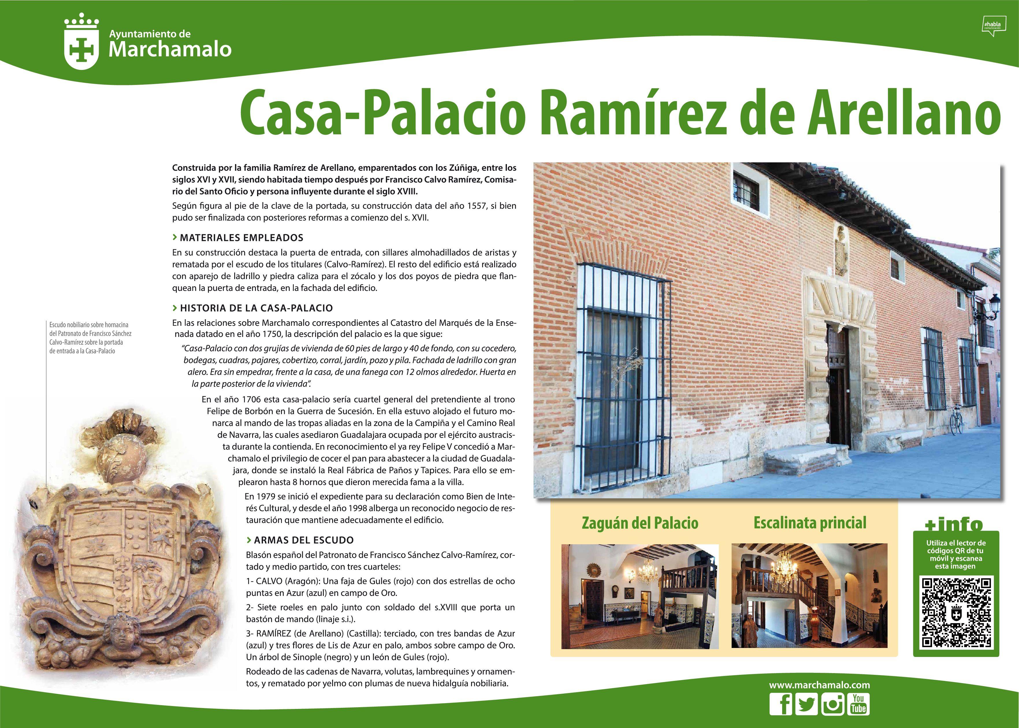 Diseño de la nueva señalética informativa instalada junto a los enclaves históricos de Marchamalo