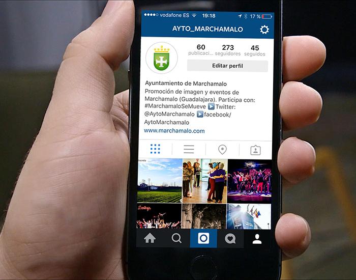 Creación de perfil en Instagram para Marchamalo, primer ayuntamiento de Guadalajara en esta red
