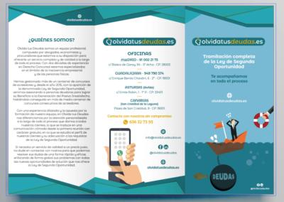 Campaña promocional física y digital para el lanzamiento de Olvida Tus deudas
