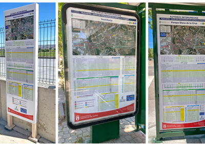 Desarrollo de señalética y campaña publicitaria del renovado servicio de Autobuses ASTRA en Cabanillas del Campo